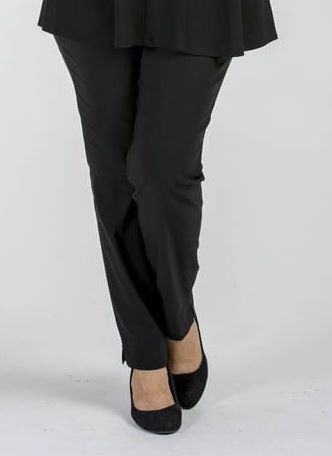 "Woman wearing Robell stretch trouser 31"" inside leg in black"
