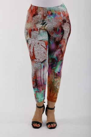 Lady wearing multicoloured leggings by Verpass