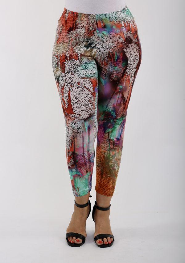 Lady wearing multicoloured leggings by Verpass