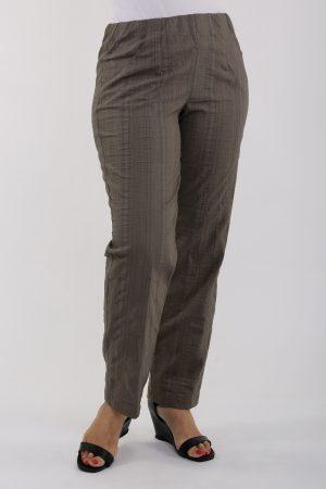 lady wearing khaki summer trousers by KJ Brand