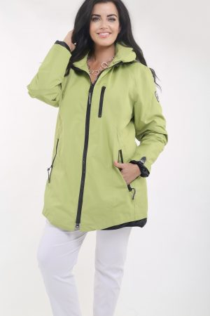 Model is wearing a waterproof jacket from Frandsen